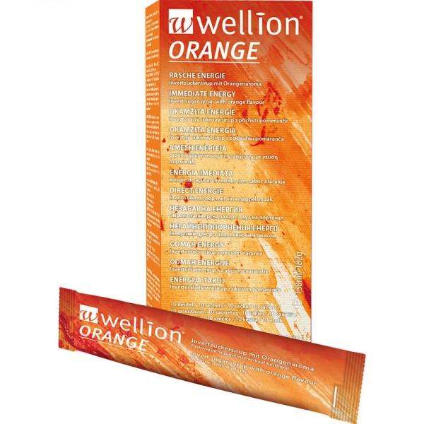 Wellion Flüssigzucker Beutel 13 ml orange