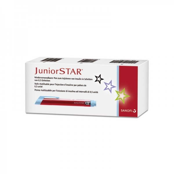 JuniorSTAR® Insulinpen rot 3 ml 0,5 er Schritte Verpackung