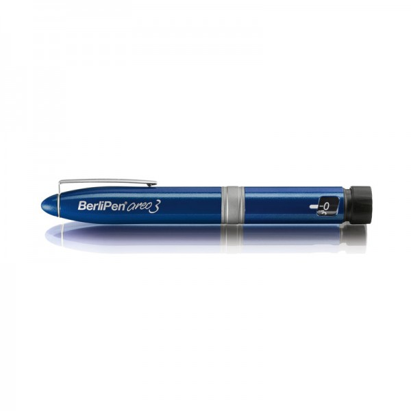 BerliPen® areo 3 blau Insulinpen 3 ml 1er Schritte