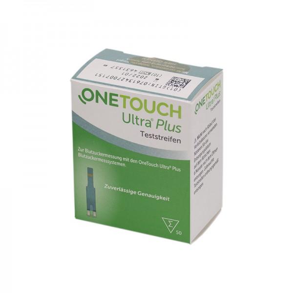 OneTouch Ultra® Plus Blutzucker-Teststreifen 50 Stk. Verpackung