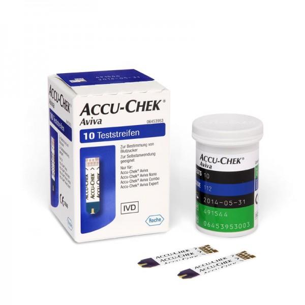 Accu-Chek® Aviva Teststreifen Inhalt 10 Stück