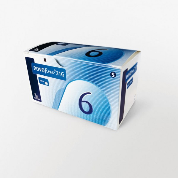 NovoFine Penkanülen 6 mm 31G/0,25 mm Verpackung