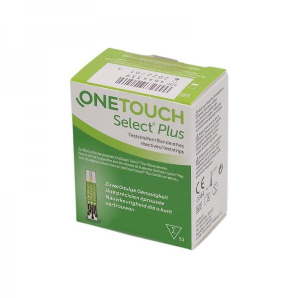 OneTouch Select® Plus Blutzucker-Teststreifen 50 Stk. Verpackung