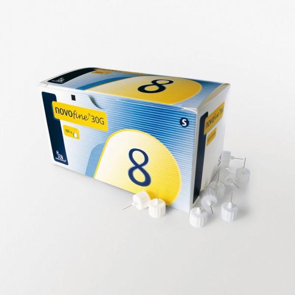 NovoFine Penkanülen 8 mm 30G/0,30 mm Verpackung