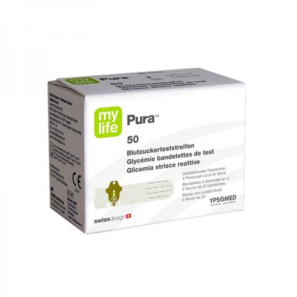 mylife Pura® Blutzucker-Teststreifen Verpackung
