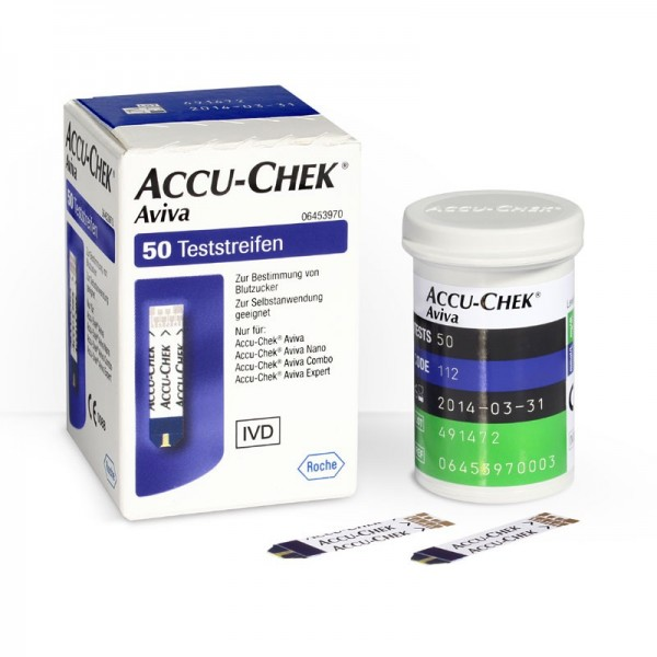 Accu-Chek® Aviva Teststreifen Inhalt 50 Stück