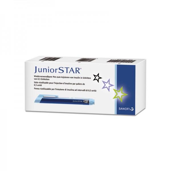 JuniorSTAR® Insulinpen blau 3 ml 0,5 er Schritte Verpackung