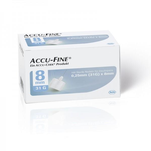 Accu-Fine® Pennadeln 0,25 mm (31G) /8 mm