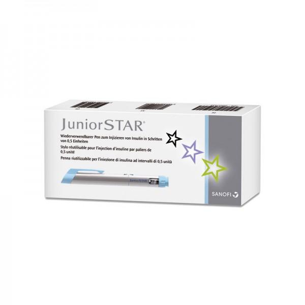 JuniorSTAR® Insulinpen silber 3 ml 0,5 er Schritte Verpackung