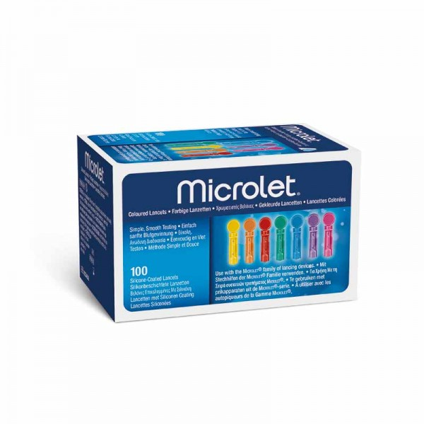 MICROLET® Lanzetten farbig 200 Stk. Verpackung