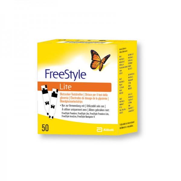 FreeStyle Lite Blutzuckerteststreifen 50 Stk. Verpackung